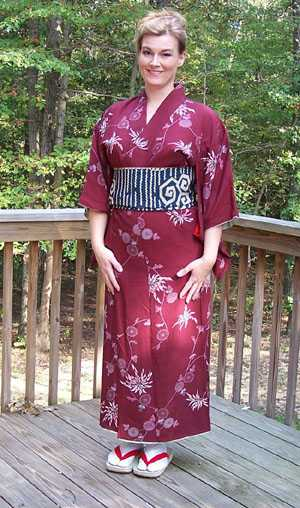 Halloween Authentic Japanese Kimono Outfit Silk